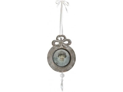 Zawieszka medalion z aniołem Grigio 3