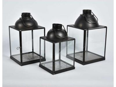 Lampion Melatowy Szklany Nero 1A