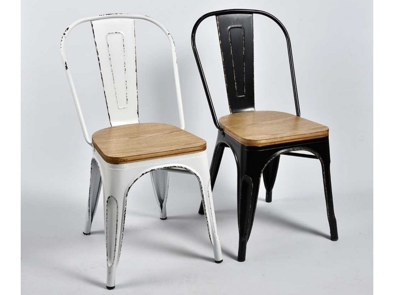 Krzesło Belldeco Metalowe Spring Czarne Industrialne Vintage