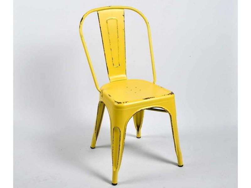 Krzesło Metalowe Spring Żółte