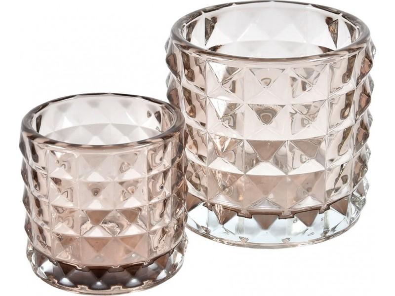 Świetlik Szklany Spring Różowy 2C