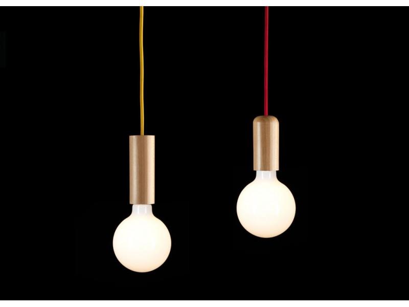 Lampa Skandynawska Minimalistyczna Single Woody Tube