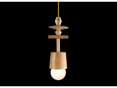 Lampa Skandynawska Drewniana HOP Design TOTEM 6 z Dzwonkiem