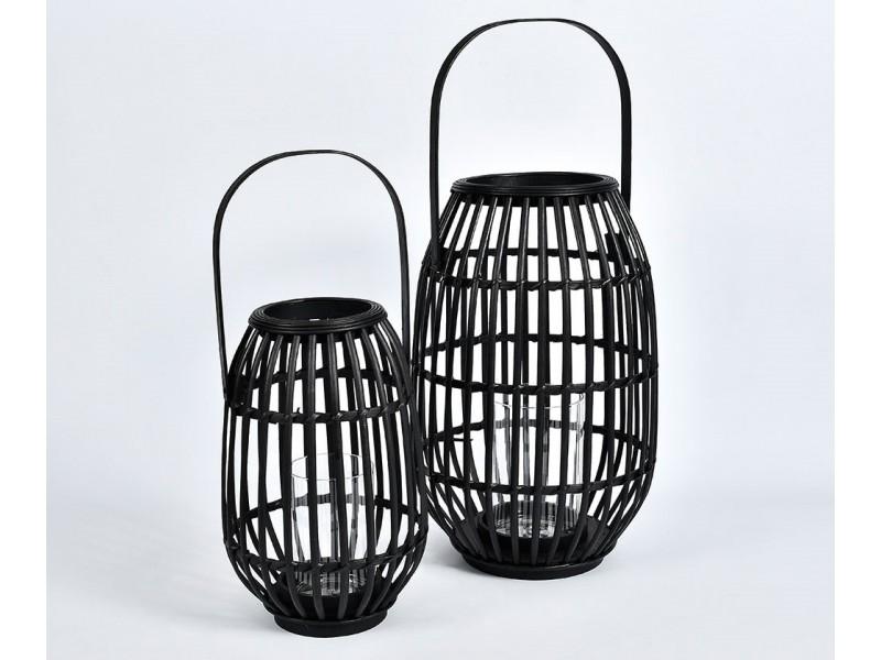 Lampion czarny bambusowy Nero 1A