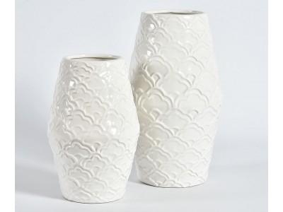 Wazon Biały Ceramiczny Wenecja B
