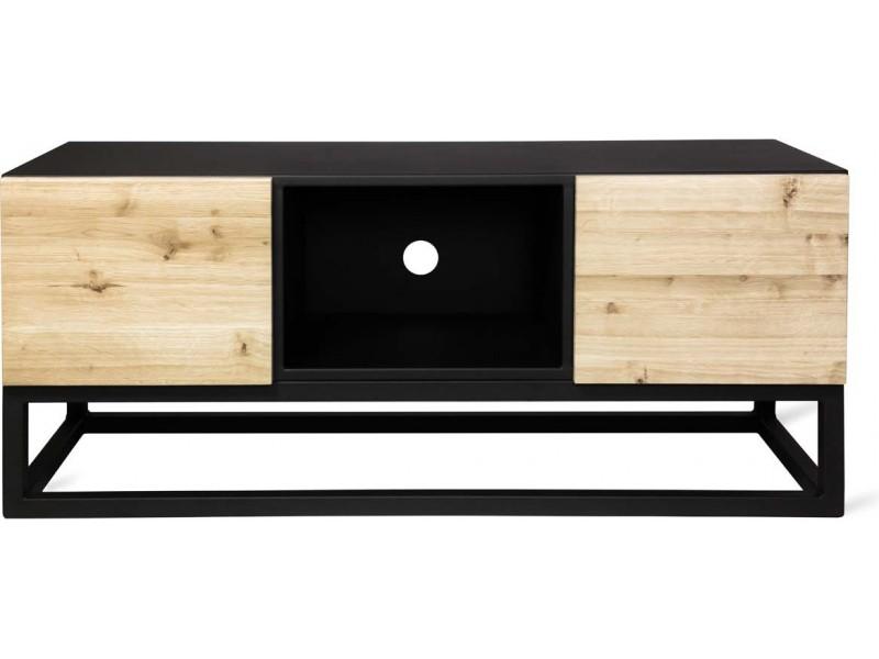 Niesamowite Industrialna szafka RTV z litego drewna i metalu. Loft Decora KD62