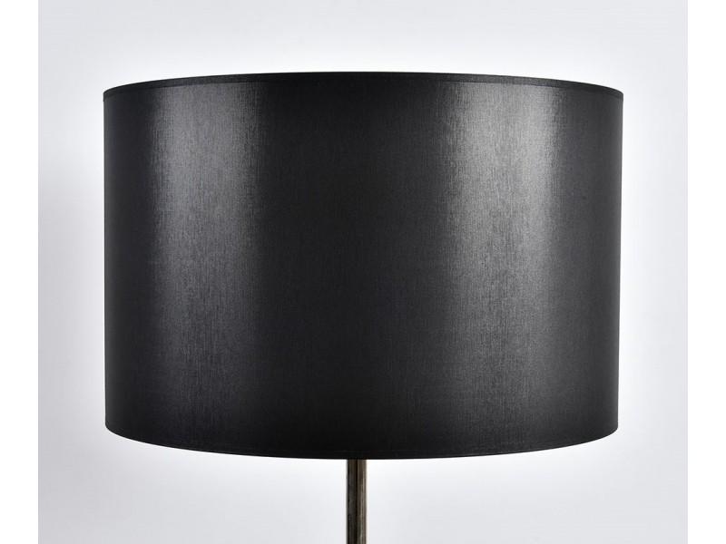 Abażur A45 H28 walec czarno-srebrny