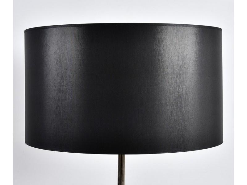 Abażur A50H28 walec czarno-srebrny