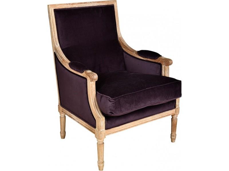 Classic Fotel prosty bakłażan 1