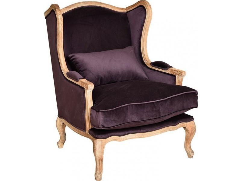 Classic Fotel duży bakłażan 1