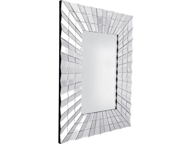 Galante - prostokątne dekoracyjne lustro w lustrzanej ramie