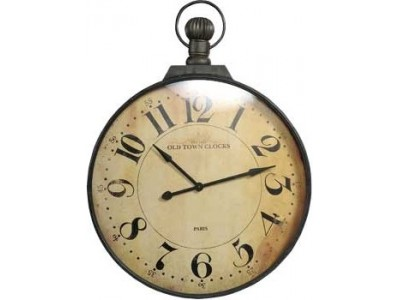 Vintage Zegar duży brąz