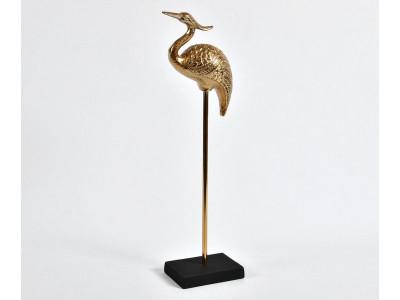 Etno Figurka Czapla złota