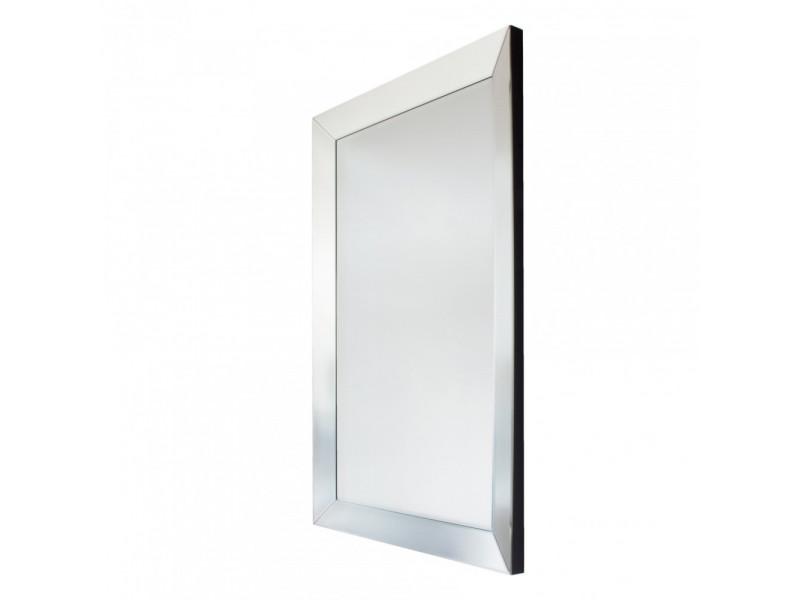 Lyssa - 140x70 prostokątne lustro dekoracyjne w fazowanej ramie lustrzanej