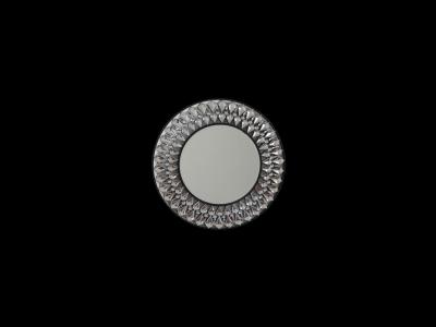 Marsylia Black - okrągłe dekoracyjne lustro 80x80 cm