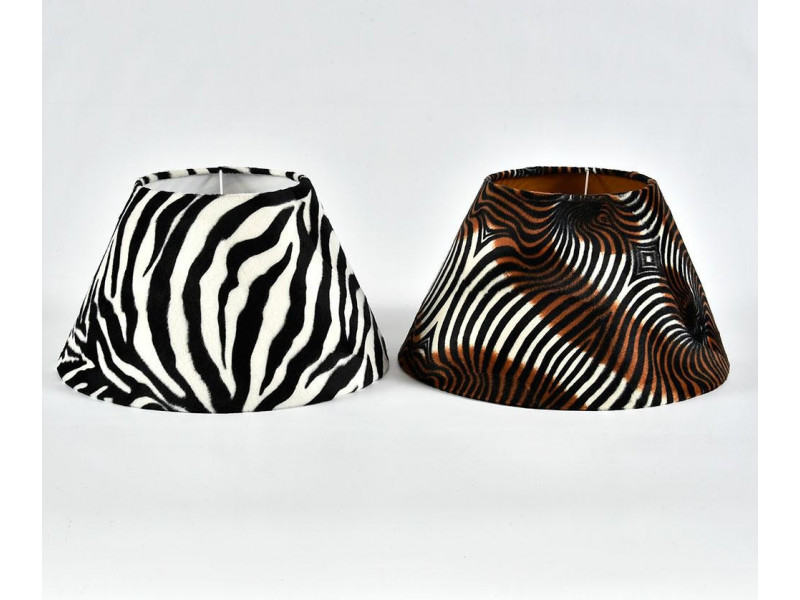 Abażur stożek duży 40/20H22 zebra
