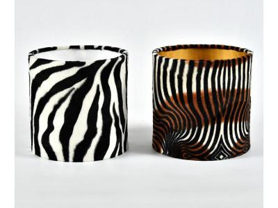 Abażur W20H20 walec zebra