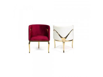 Fotel Ekskluzywny gold/red