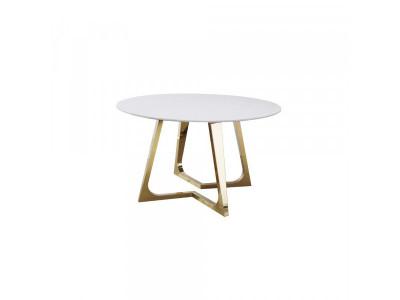 Stół Ekskluzywny okrągły gold/white