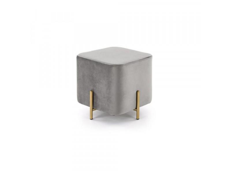 Pufka Ekskluzywna gold/light grey