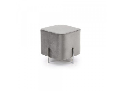 Pufka Ekskluzywna silver/light grey