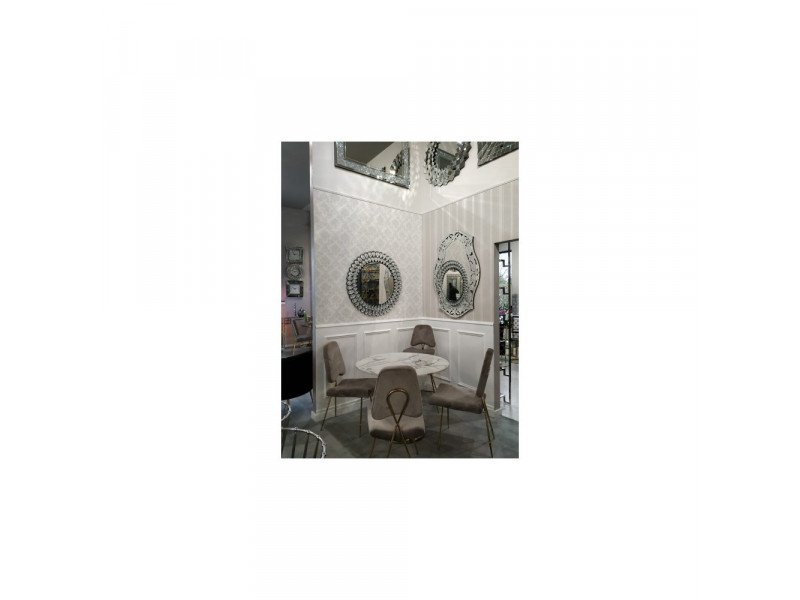 Krzesło jadalniane Glamour Salvadore gold/brown