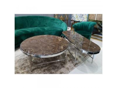 Stół kawowy Ekskluzywny Cesario gold/brown