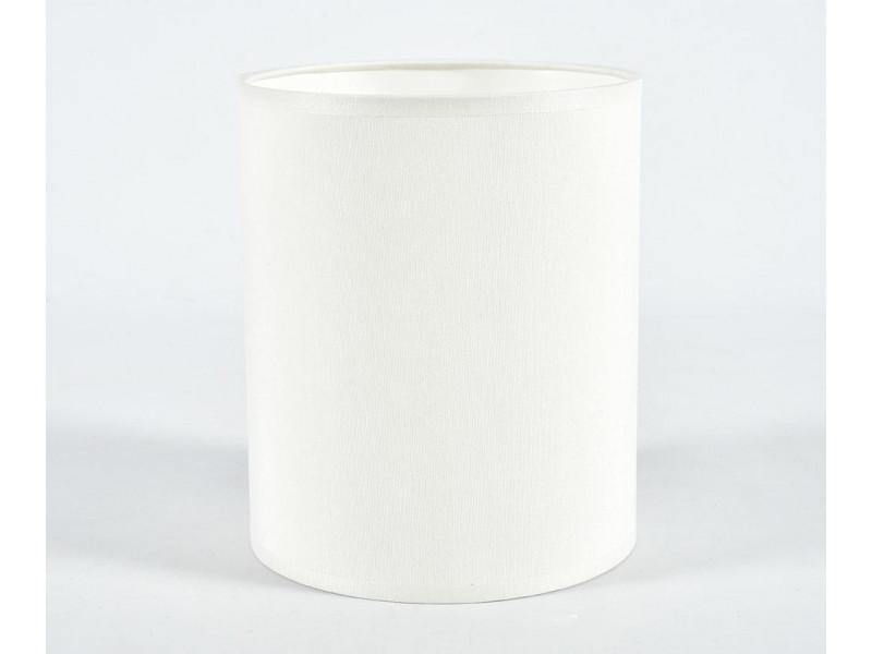 Abażur A15H18 walec biały chitz 011