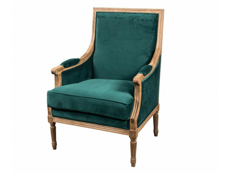 Classic Fotel prosty malachit 1
