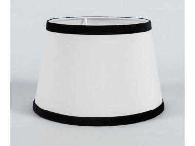 Abażur A20/15H13 stożek biały chitz