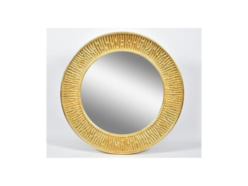 Gold line Lustro okrągłe 1