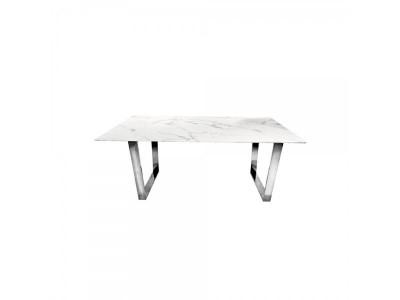 Stół jadalniany Ekskluzywny Madera 160x80 silver