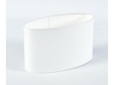 Abażur A28/13H17 elipsa chitz biały