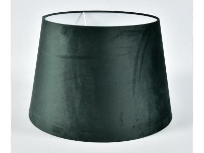 Abażur A45/35H30 stożek plusz zielony