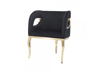 Fotel Ekskluzywny Morello gold/black