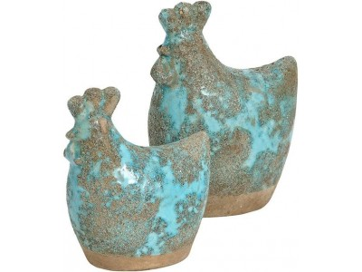 Figurka Kura Ceramiczna Azzurro Old C