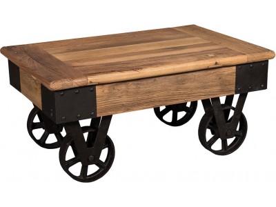 Ława/Stolik drewniany na kółkach London