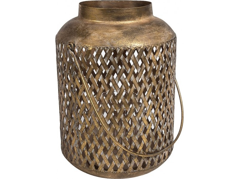Lampion Ażurowy Orientalny Vintage Gold Line