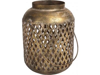 Lampion Ażurowy Orientalny Vintage Gold Line B