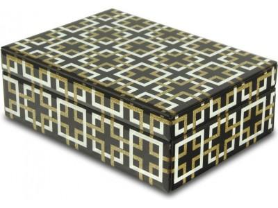Szklana szkatułka na biżuterię Pandora