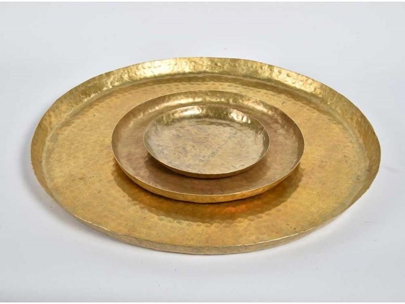 Barok Old Patera okrągła złota A