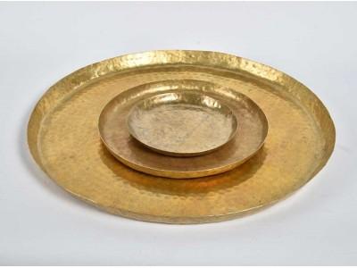 Barok Old Patera okrągła złota D