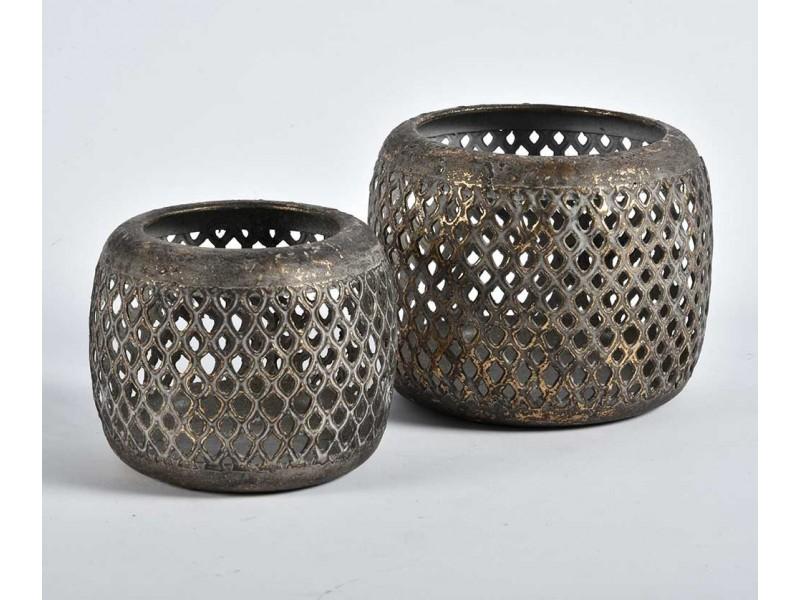Lampion Świetlik Metalowy Ażurowy Barok Old A