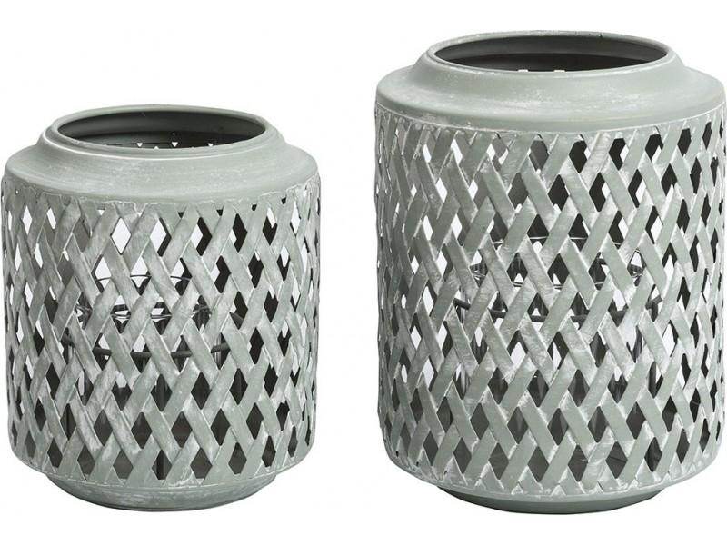 Metalowy Ażurowy Lampion Delia